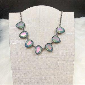 Blue iridescent necklace